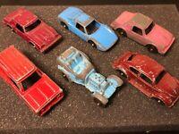 Vintage Tootsie Toy Marx Cars Lot Of 6 Diecast Metal