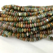 Natural genuine India Fancy Agate Rondelle Loose diy Jewelry necklaces Beads
