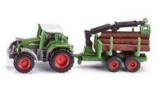 Siku SK1645 Diecast Tractor with Forestry Trailer.