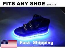 "LIGHT up ""YOUR"" shoes kit fits Mens or Womens DC Shoe size 7 8 9 10 11 12 13 14"