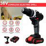 36V Cordless Drill Double Impact LED Worklight Light & Li-ion Battery Power Tool