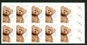 2012 Precious Moments (Teddy Bear) Stamp Booklet SB389 - General Barcode