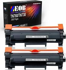 ZEOB Compatible TN760 Toner Cartridge Replacement for Brother TN760 TN730 TN-760