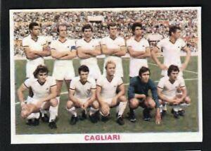 RARA FIGURINA CALCIATORI CALCIO SQUADRE BAGGIOLI ? 1976 CAGLIARI
