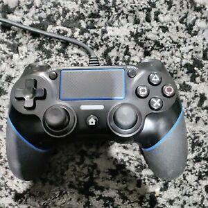 (Read Desc.) Used Black & Blue Wired PS4 Controller