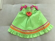 Baby Girl Goodlad Green Pink Dress With Flower Size 2T