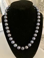 Aithentic Round 12-14 Mm Tahitian South Sea Pearl Necklace