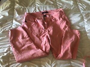 Torrid 22 Denim Coral Jeans (Visible Wear)