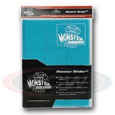 9-POCKET MONSTER PROTECTOR BINDER - HOLOFOIL AQUA BLUE