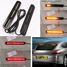 2x LED Dual Color Car Tail Light Red Brake Stop Light Amber Flowing Turn Signal