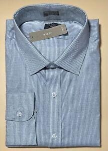 15 x 35 J CREW Ludlow Slim Fit Stretch Poplin Dress Shirt Pale Navy Stripe J4895