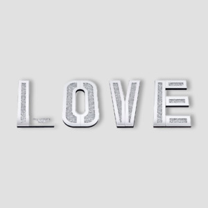 Mirrored Diamond Large LOVE Letters Shimmering Crystal Wall Art Home Décor