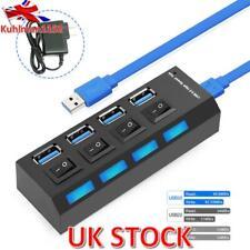 4Ports Powered USB 3.0 HUB Splitter Box 5Gbps Super Speed External Power Adapter