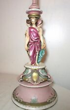 antique Meissen porcelain figurine statue the three graces electric table lamp