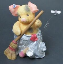 1997 Enesco Corp Tlp This Little Piggy You Swept Me Off My Feet Figurine 298158