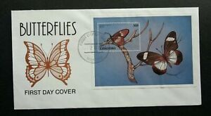 [SJ] Lesotho Butterflies 1997 Insect Butterfly (stamp FDC)