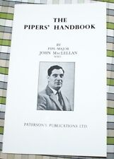 MACLELLAN THE PIPERS' HANDBOOK FOR BAGPIPERS AND LEARNERS BOOK music pipes