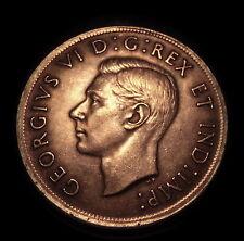 Scarce 1937 Canadian Silver Dollar Silver Crown High Detail