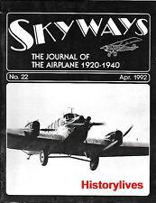 Skyways 22 Junkers Luftverkehr Pander Fieseler Storch Macchi 200 Waco D Payens