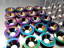 20 PCS M6X20 NEOCHROME BILLET FENDER BOLT/WASHER DRESS UP KIT