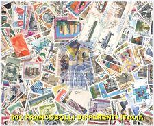 LOTTO 500 FRANCOBOLLI DIFFERENTI ITALIA REPUBBLICA