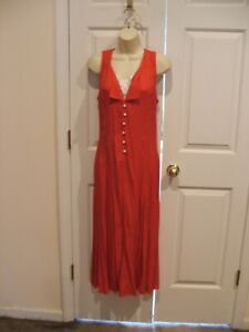 New frederick's of hollywood RED DOT long  SUNDRESS MAXI DRESS  made in USA 9/10