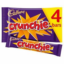4 X CADBURY CRUNCHIE CHOCOLATE PACK OF 4 X 32G BARS  !!! FREE DELIVERY !!!