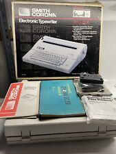 Smith Corona Vintage Electric Portable Typewriter 240 DLE With Cover Works