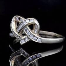 Estate Ring Diamond 0.50ct Heart Shaped DressEngagement 14ct gold  Rare SizeV1/2