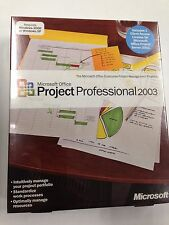 Microsoft Office Project Professional 2003 Edition Full Retail Sealed H30-00428