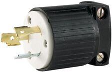 EatonL520P 20-Amp 125-V Hart-Lock Industrial GradePlug w/Safety Grip Black&White