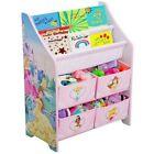 Disney Book Toy Organizer Princess Storage Bedroom Furniture Bin Shelves Pink