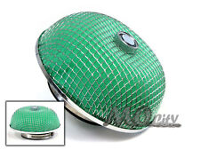 """3"""" 76mm Flange Round Mushroom Dry High Flow Air Intake Replacement Filter GREEN"""