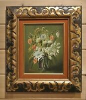 Beautiful Oil Painting Of Vase with Flowers