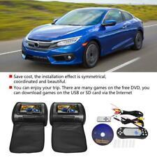 2X POGGIATESTA 7 POLLICI MONITOR LETTORE DVD CD PLAYER USB SD CAR AUTO GIOCHI
