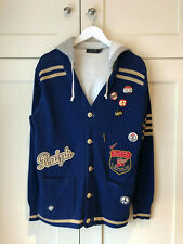 Men's Polo Ralph Lauren Patch Varsity Cardigan Hoodie Jumper Small S RRP £300+
