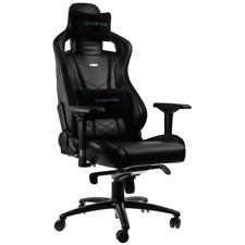 NEW Noblechairs EPIC Gaming Chair Black/Blue PU Leather luxury INCREDIBLE DESIGN