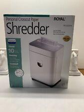 Royal Px1000mx 10 Sheet Paper Shredder Cd Dvd Floppy Disc Shredder Withwheels New