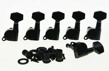Left Handed Black Guitar Tuning Keys Lefty Tuners Machine Heads for Strat Tele