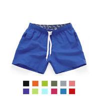 Men Casual Shorts Beach Surfing Swiming Pants Summer Trunk Shorts W/Pocket UK