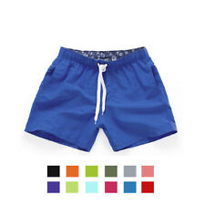 Men's Beach Shorts Surfing Swiming Short Pants String Trunk Solid Elastic Waist