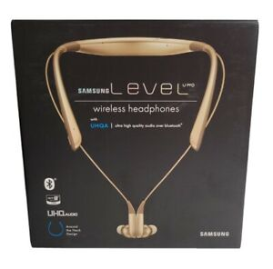 NEW Samsung Level U Pro EO-BN920 Wireless Headphones With UHQA - Gold