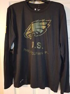 New Nike Philadelphia Eagles Men's Salute to Service Black Dri-Fit Shirt Sz XL