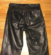 """Unique! Great Men's Leather Jeans/Leather Pants IN Black Approx. W30 """" / L31 """""""