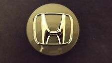 Honda OEM Wheel Center Cap 2 11/16 Inch Gray Finish Chrome Logo 44742 *