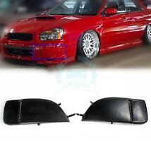 2pcs Side Fog Light Cover Front Bumper Grill For Subaru Impreza STI WRX 04-05