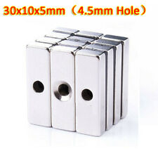 N35 30x10x5mm Block Neo Diy Rare Earth Neodymium Ndfeb Magnets 45mm Hole