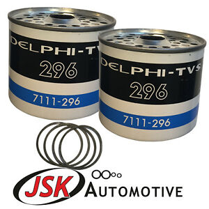 Pack of 2 CAV Diesel Fuel Filters for International B275 B276 B414 Tractors