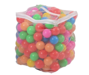 """200 Ball Pit Balls In Bag BPA Free Plastic 2.3"""" Multi Color Play Room Tent Toys"""