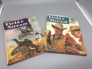 Pair Vintage FIELD & STREAM - Magazines - May, September 1946 - Good Condition